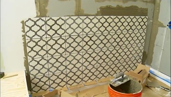 Installing a cement tile
