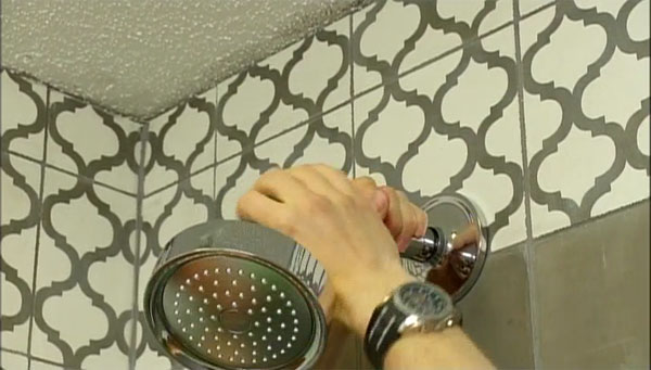 diy and hgtv bathroom make over show with cement tile