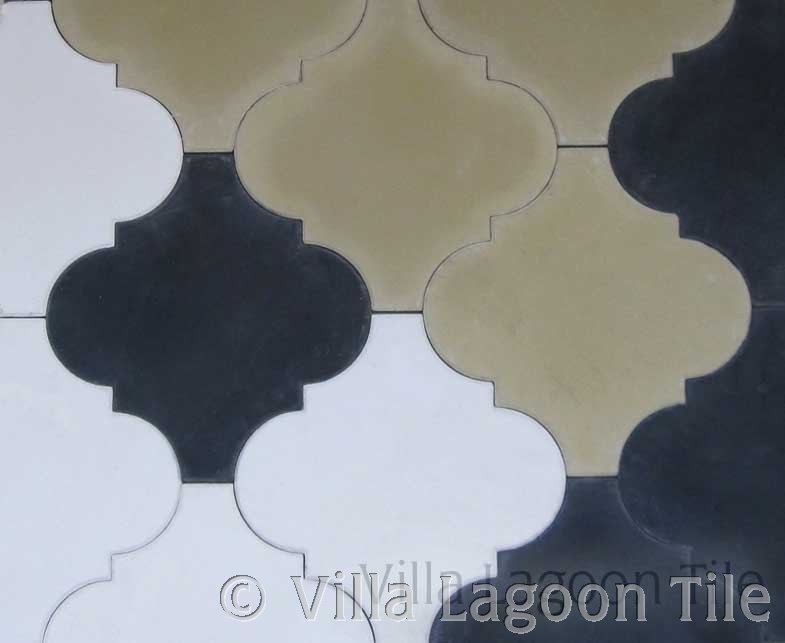 Moroccan shaped floor tile