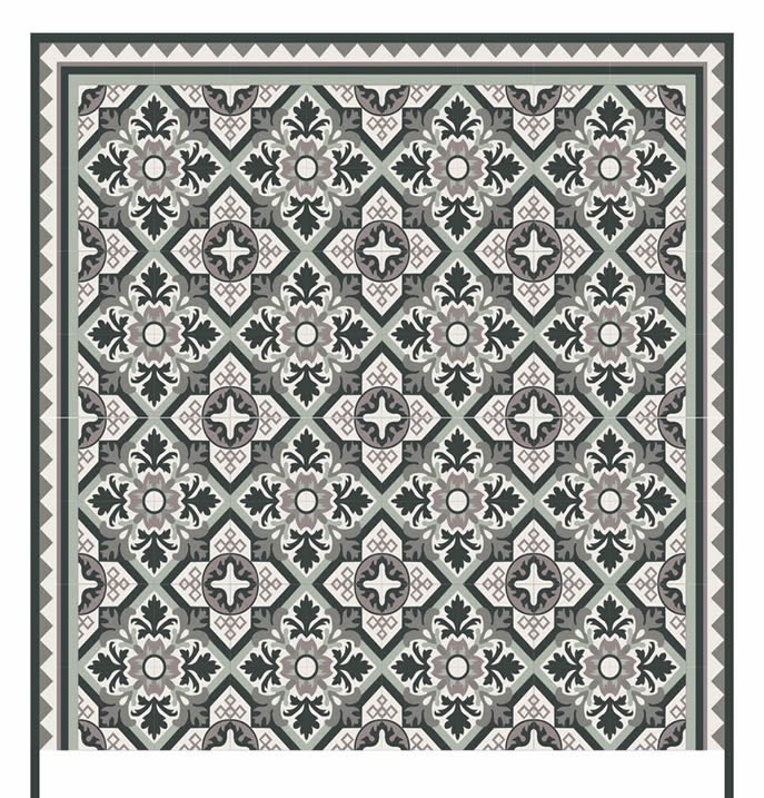 Mission Tile in black gray and white