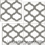 In-stock cement tile, Salamanca pattern.