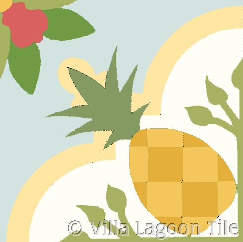 Pineapple cement tile