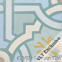 "Venetian tile ""Azul"" cement tile"