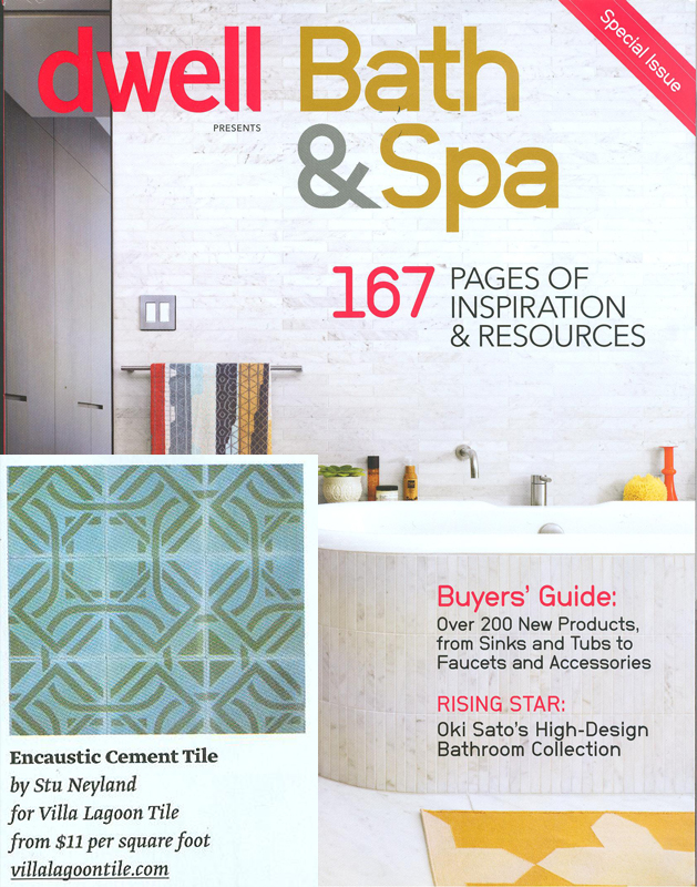 Portals cement tile in dwell magazine