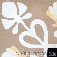Foilage antique cement tile border