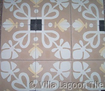 Foliage Corner Antique Cement Tile