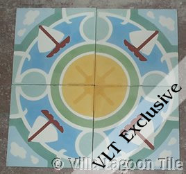 sailboat tile photo