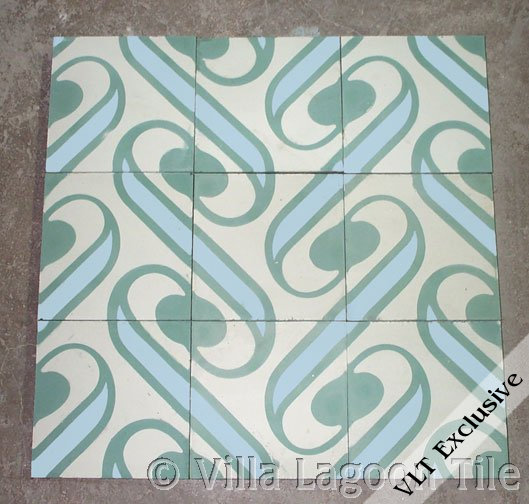 Surf Aqua Beach House Floor Tile