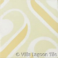 Contemporary cement tile in neutrals