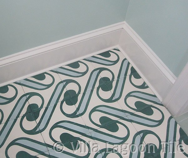 Surf pattern cement tile