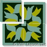 caribbean ribbon tile square