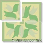 green encaustic tile square