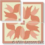 ribbon corner tile square