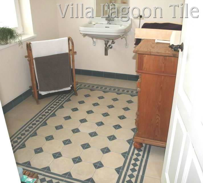 In stock encaustic cement tile uk europe villa for Bathroom floor ideas uk