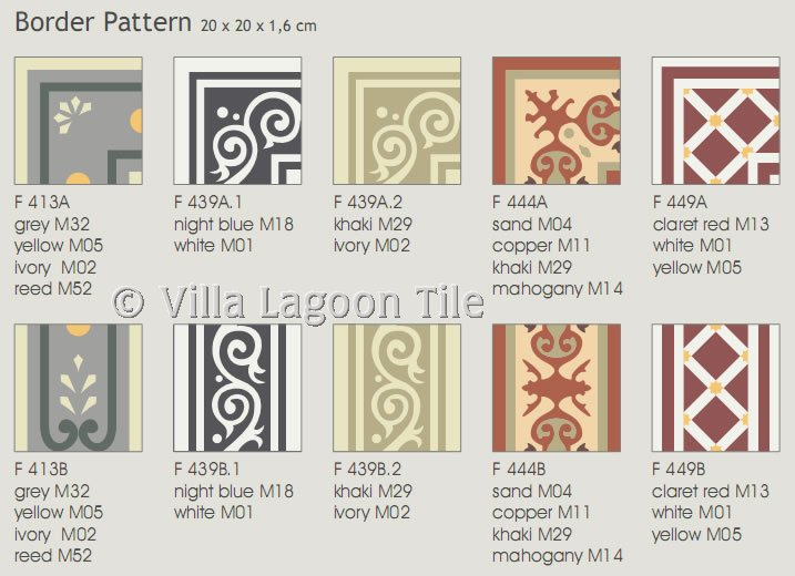 Cement tile borders for quick shipping