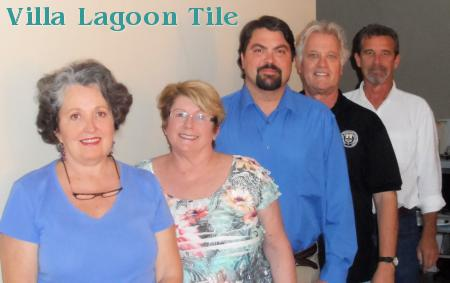 The Villa Lagoon Tile Team; Lundy, Dottie, John, Dave, and Stephen
