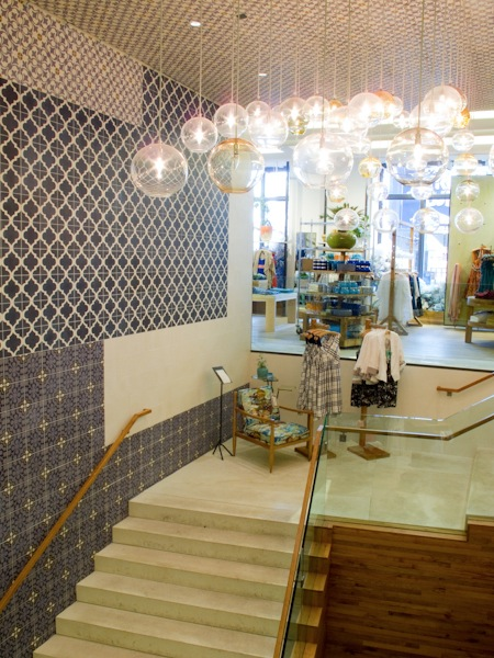Anthropologie store cement tile