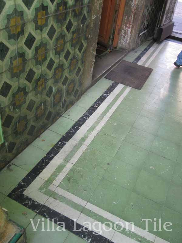 Concrete tiles in Mexico
