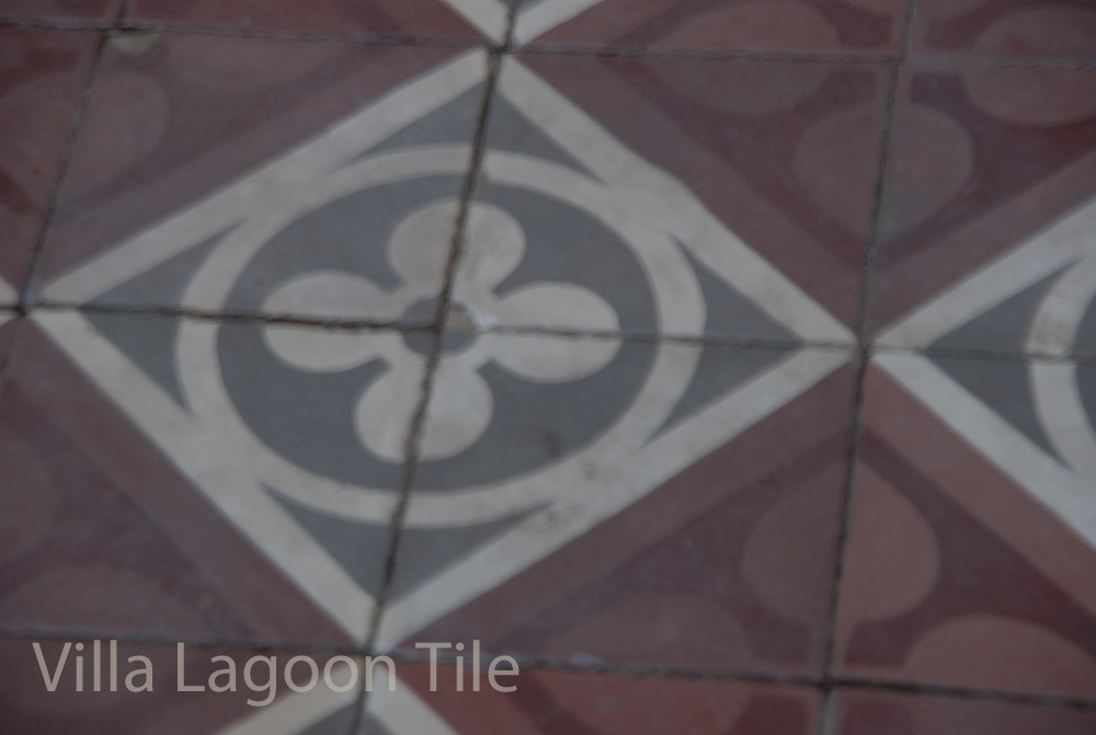 Reclaimed antique cement tile