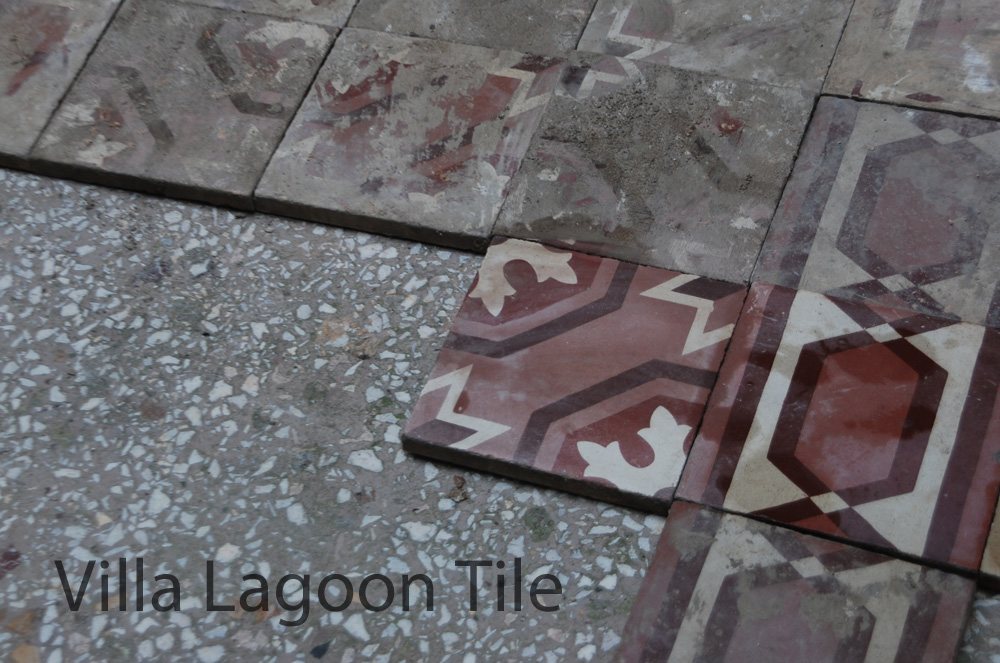 Salvaged Antique Greek Cement Tile Villa Lagoon