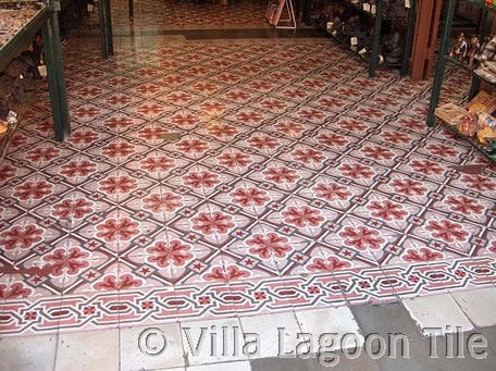 Antique French Tile Floor