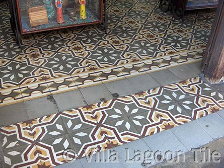 Antique French tiles