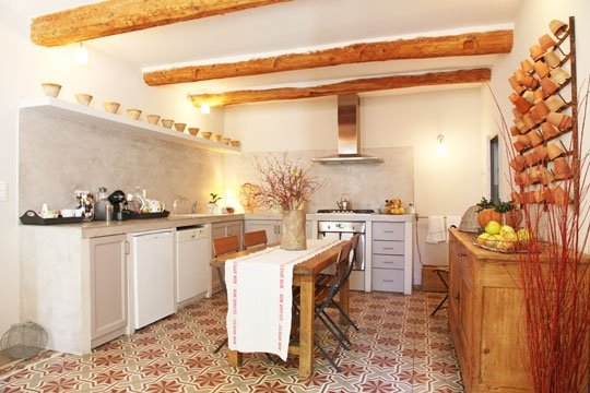 French Country Kitchen Tile Flooring antique french cement tile floors | villa lagoon tile