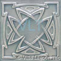 Art Deco Relief Tile Grey