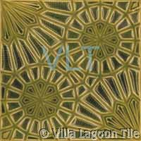 Art Deco Relief Tile Green