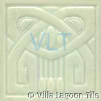 Art Deco Relief Tile Jade