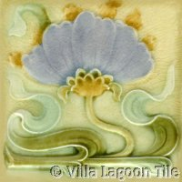 soft pastel art nouveau tile