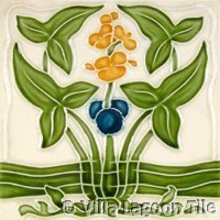 arrow root art nouveau tile
