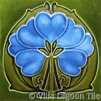 Bluebell art tile