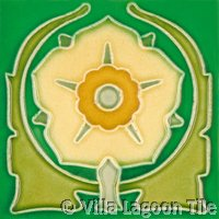 daffodil Flowers on molded art tile