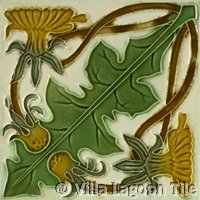 Foliage tile in antique design
