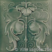 gray relief art nouveau tile