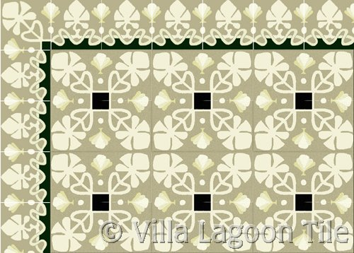 Foliage Tile border and field tile