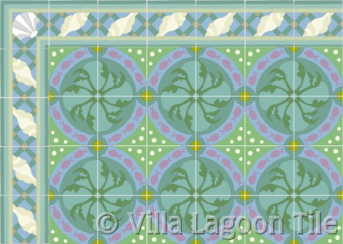 cement tile rug design