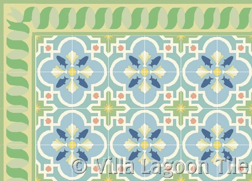 beach house tile floor cement encaustic tile