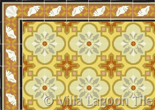 savona italian tile terra cotta with russet border