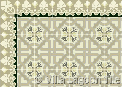 Neutral Color Cement tile