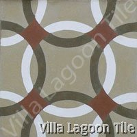 Anillos cement tile ring pattern