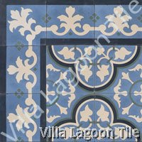 Caribbean cement tile design