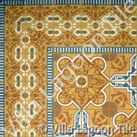 Ornate cement tile designs from Cuba