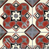 Old fashioned cement tile