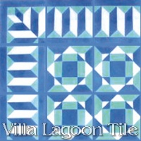 Vintage patterned tile