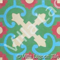 Caribbean style floor patterns