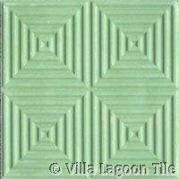 Green relief paver tile