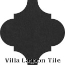 """Black"" Arabesque Classic Cement Tile"