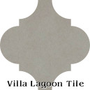 """Heron Gray"" Arabesque Classic Cement Tile"